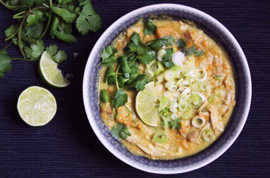 kip curry uit de slowcooker